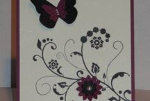 SU Flowering Flourishes / Cards using Stampin UP Flowering Flourishes stamp