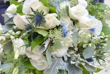 Weddings: Beautiful in Blue / Wedding Bouquets in blue tones created by our certified wedding designers here at Bradford Greenhouses Garden Gallery, Barrie Ontario.