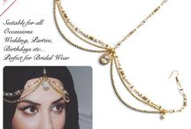 HeadPieces , Head Piece , Hair Piece , Hair Jewellery , Hijab Jewllery - Madz Fashionz