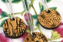 wood disc jewellery