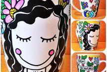 Pintura en Loza y Acuarela