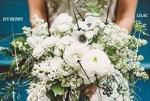 Wedding flowers - ideas / Ideas for brides bouquet, flower girl crowns and corsages.