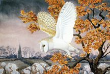 """Charles Tunnicliffe / Tunnicliffe was born in 1901 in Langley, Macclesfield, England, and spent his early years living on a farm in nearby Sutton, where he saw much wildlife. As a young boy he attended Sutton St. James' C.E. Primary School and he went on to win a scholarship to the Royal College of Art in London. In 1947 he moved from Manchester to a house called """"Shorelands"""" at Malltraeth, on the estuary of the Afon Cefni on Anglesey, where he lived until his death in 1979."""