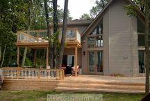 2 Level Cedar Deck at a Cottage