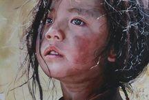 Faces in Watercolor