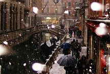 Winter. European Cities