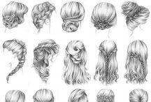Tegning hår