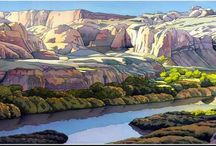 Paintings - Landscapes / by Cheryl N