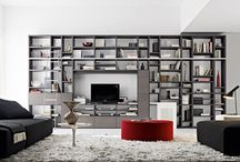 Wall system bookcase