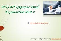 BUS 475 Final Exam Part 2