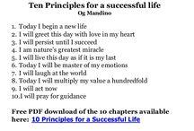 Success Principles That Work