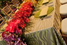 Green Weddings / Wedding tablecloths and special event linens in green