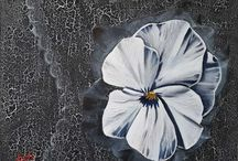 Virágok olajfestéssel / Flowers with oil