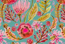 Scarves by Karen Fields / My illustrations for scarves.