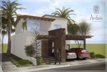 Casa media residencial