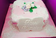 Shabby chic / Sugar veil and pearl lustre used to create a birthday cake for a very distinguished lady.