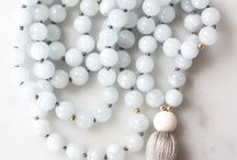 Tranquility Mala / Mala bead necklaces for meditation and crystal healing | Meditation for beginners | crystals and stones | inspired by: salty skin under a warm Summer breeze