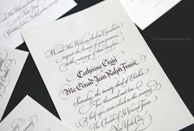 Wedding | Event Calligraphy / Calligraphy Artist and designer, John Stevens has created beautiful invitations and notes, letters and certificates for events and weddings.  Work is unique and hand-made, designed exquisitely for the individual.