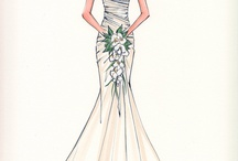 Fashion sketches gowns & bridal