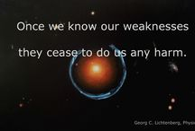 Georg C. Lichtenberg Quotes / Lichtenberg Quotes. Background: Diana Battefeld, Strong Gravitational Lensing, 2015 [Oil on Canvas]