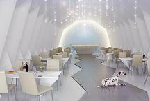 Origami restaurant / Architectural Visualization