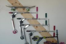 DIY Bike and Scooter Racks / Inspiration for homemade bike and scooter racks