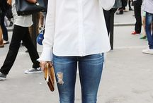 White With Denim / by Andrea Cordero