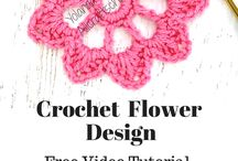 Crochet Flowers and Leafs