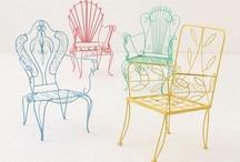 Metallic chairs