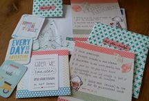 sobres decorados y snail mail