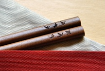 Chopsticks with laser engraving