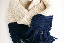 Knitted Scarves, Cowls and Shawls