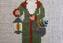 Santa cross stitch