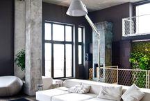 Loft interior  / bedroom, living room, kids room, kitchen, entry, stairs