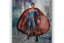 Superheroes Art for boys room decor