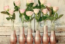 Rose Gold Wedding Flowers