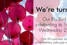 Belle's 1st Birthday / We're is celebrating one year in our beautiful Blubird store!  The first 50 customers who visit us on 22 May 2013 will receive a delicious cake pop with their purchase!  You could also stand the chance of winning a delicious spot prize if you visit our store on our birthday!