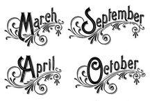 dekopaj aylar/sayılar/günler