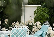 Vintage outdoor table settings