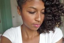 Natural curls! / Great for back to school! Simple and cute.