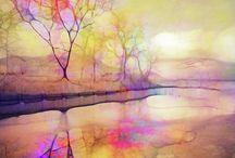 paisagem aquarela