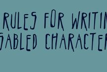 Writing about characters with special needs