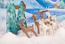 Frosty Festivals / Dive into the magic of snow-days and icy landscapes - and dance into the holidays with these frosty little guys. All is merry and bright with our arctic animals, snowmen, elves, santas and father frosts.