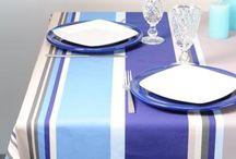 Linge de maison: Linge de table, linge de lit / Linge de maison: Linge de table, linge de lit de marques francaises: nappe en lin, nappe enduite, rideaux en lin, housse de couette en lin.