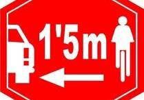 Carteles seguridad vial ciclistas