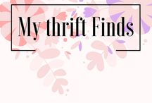 My Thrift Finds / This board is about finding second hand clothes and making it look fashionable! #secondhand #thrift #