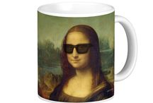 Funny Hipster Gifts for Happy Hipsters / Love those happy hipsters! Artist Paul Stickland has given Wolfgang Amadeus Mozart and Mona Lisa a hipster makeover. funny online hipster gifts for happy hipsters!