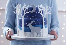 Christmas deer cake