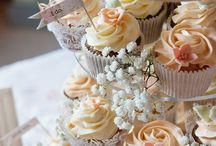 Bolos de cupcake de casamento