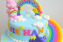 WINNIE POOH,ORSETTI DEL CUORE ECC. / carebear cake